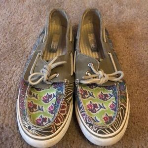 Sperry canvas boat shoes GUC